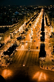 Champs-Elysées by night, Paris